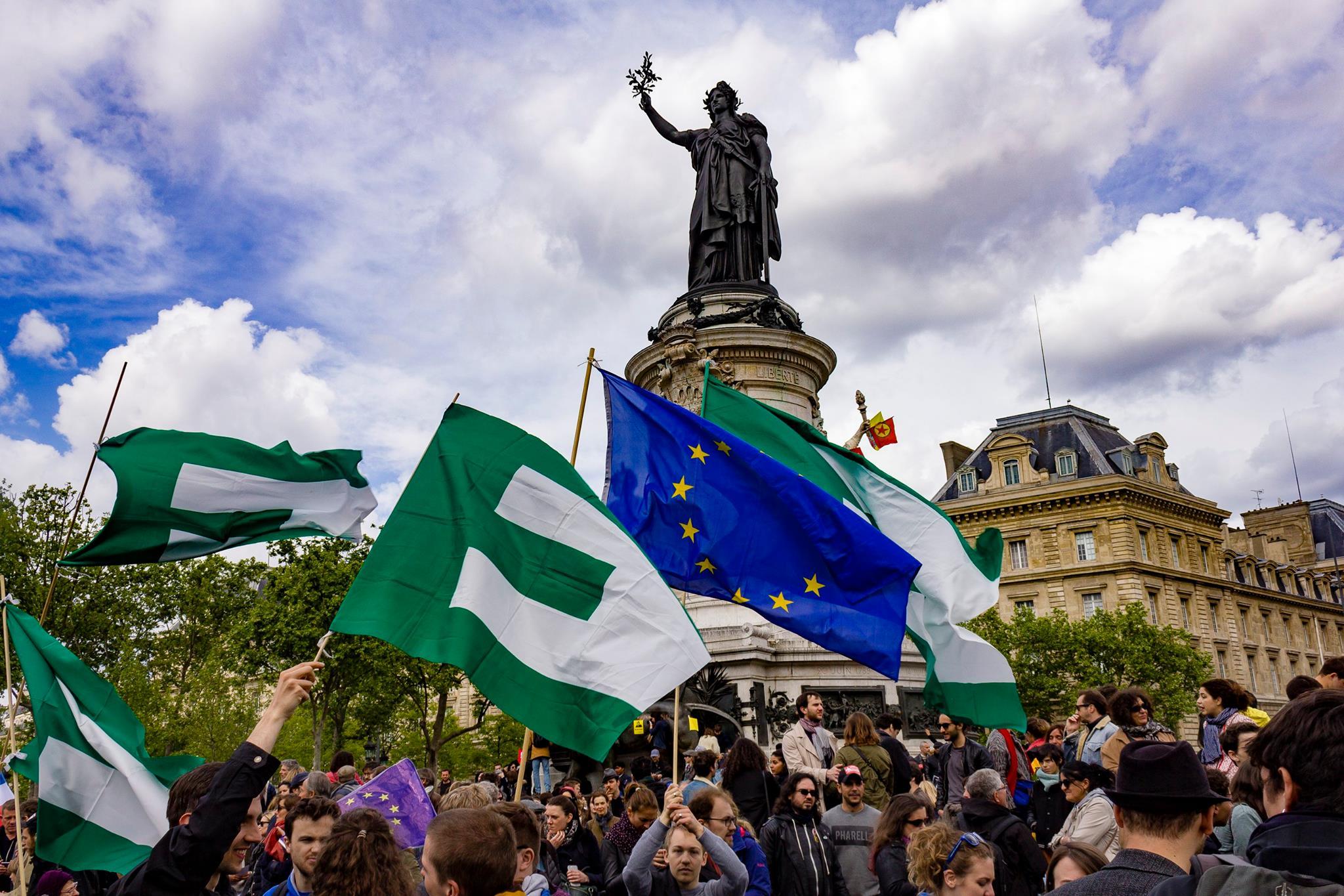 Manifestation - Union des Fédéralistes Européens - France