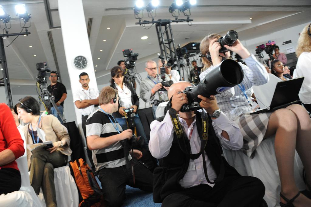 Journalistes en action