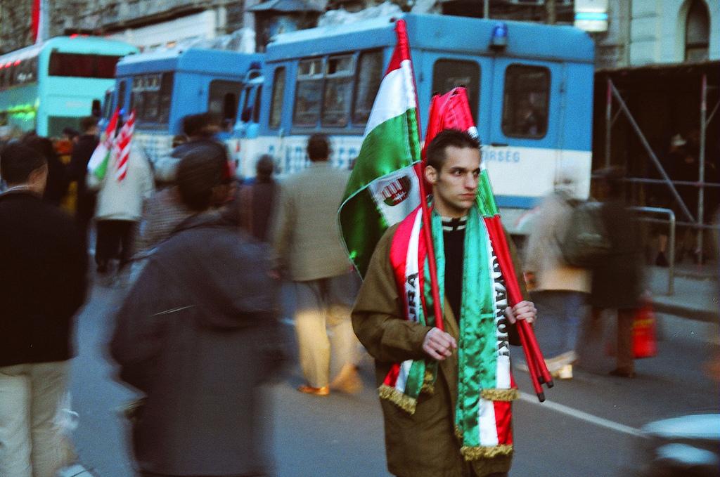 Manifestation à Budapest